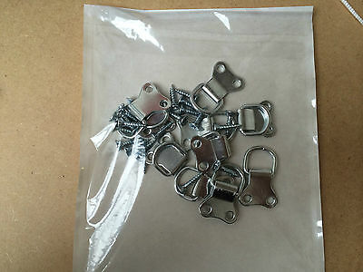 Picture Frame Hanging Double D Ring Nickel Plated With Screws