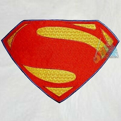 Superman Suit Replica Logo Embroidered Big Patch Man of Steel Movie Costume