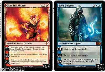 Jace Beleren x4 & Chandra Ablaze x4 & 45 Random Rares MTG MAGIC THE GATHERING
