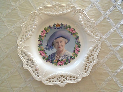 Royal Creamware  - Queen Elizabeth 100 Birthday COMMEMORATIVE PLATE Limited Ed.