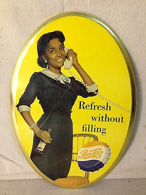 Vintage menu PEPSI COLA woman pictured Refreshes Without Filling unused n-mint+