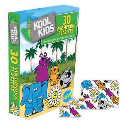 KoolKids Washproof Plasters x 30 Hypo-allergenic & latex free- FREE P&P