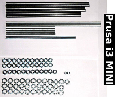 Steel Smooth Threaded Rods Nuts - Prusa i3 MINI Reprap 3D printer kit stainless