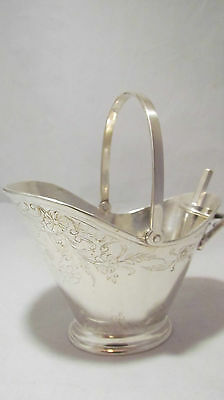VINTAGE LEONARD SILVER PLATE SUGAR BOWL EPNS WITH SPOON
