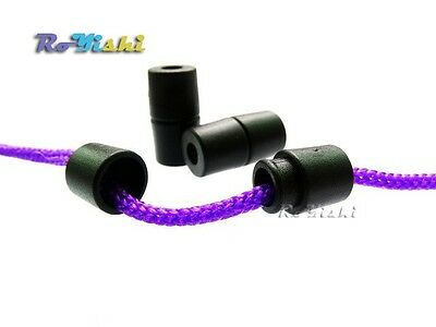 Black/White Lanyard Paracord Safety Breakaway Pop Barrel Connectors Clasp