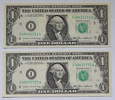 1985 $1 Fancy Serial Number **Matching 404 leading with solid 11111 and 77777**