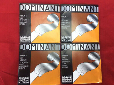 Thomastik Dominant 135B Violin String Set 4/4  E Ball End New in Packages