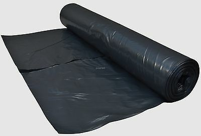4 Metre Wide Black Polythene Plastic Sheeting 125 Micron / 500 Gauge