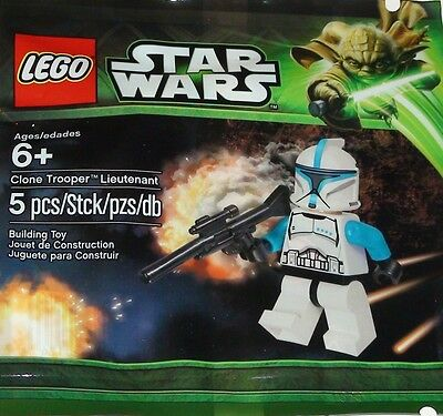New Lego Polybag Set 5001709 Star Wars CLONE TROOPER LIEUTENANT Minifig Sealed