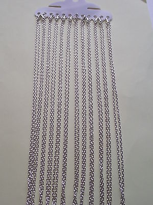 UK Wholesale Jewellery 250 Pieces of 18 inch x 2mm Silver Trace Necklace Chains
