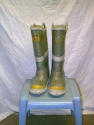 1 Pair Rubber Servus Fire Boots - WADERS Size 8M/9W