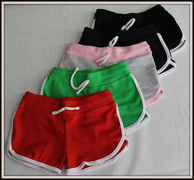 Girls & Boys Short Over-Knee Sport School Shorts Pants Active 3 - 16 Yrs 98-170