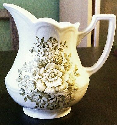 J&G Meakin Avondale Royal Staffordshire Pitcher Creamer Cottage Chic Sage Green