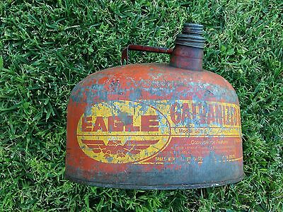 Vintage Eagle 2.5 Gallon galvanized Gas Can