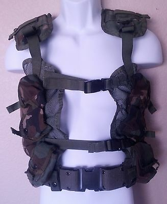 Enhanced Tactical Load Bearing Vest With Canteen US Military OD Green