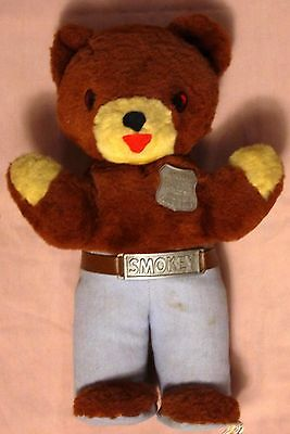 VINTAGE IDEAL TOYS 1950'S SMOKEY THE BEAR VG+ CONDITION BADGE BELT BUCKLE