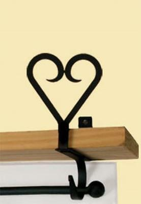 CUR-SB-51 1 PAIR Heart - Curtain Shelf Brackets