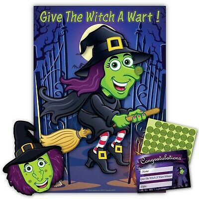 Halloween Party Game- GIVE THE WITCH A WART - FREE P&P - upto 35 players