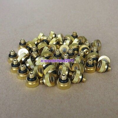 "Brass Misting Nozzles for Cooling System  0.012"" (0.3 mm) 10/24 UNC Garden"