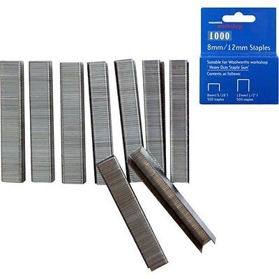 1000pcs 8mm & 12mm Heavy Duty Replacement Staples