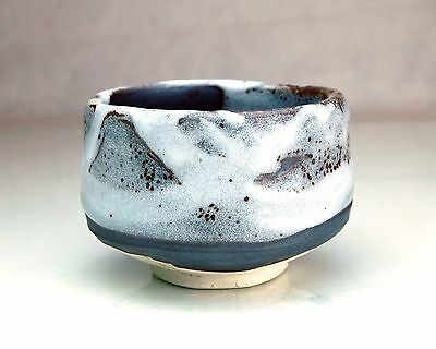 Japanese Green Tea Ceremony Chawan Tea Cup #47017 Shinyuki New Snow Minoyaki