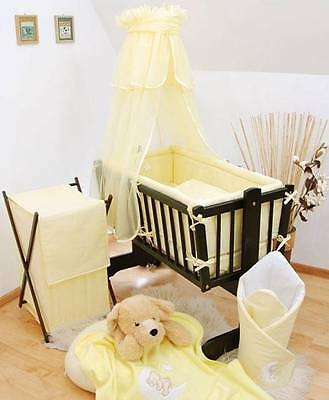 Baby Crib Canopy/ Drape Fits Rocking/ Swinging Cradle/ Moses Basket - Yellow