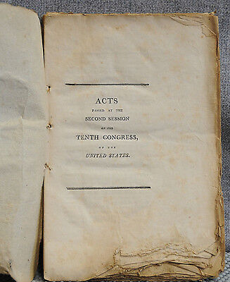 Acts Passed at the Second Session of the Tenth Congress of United States 1809