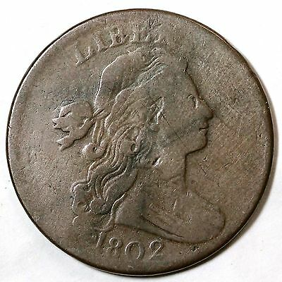 1802 S-225 R-3 LDS IV Draped Bust Large Cent Coin 1c