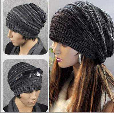 Unisex Womens Mens Knit Baggy Beanie Beret Hat Winter Warm Oversized Ski Cap 80
