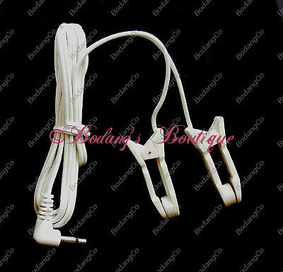 2 Sets EAR CLIP/CLAMP ELECTRODES w/Attached Lead Wires for EMS TENS w/3.5mm Plug