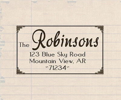 Custom Made Self Inking Rubber Stamps Personalized return address name pre ink