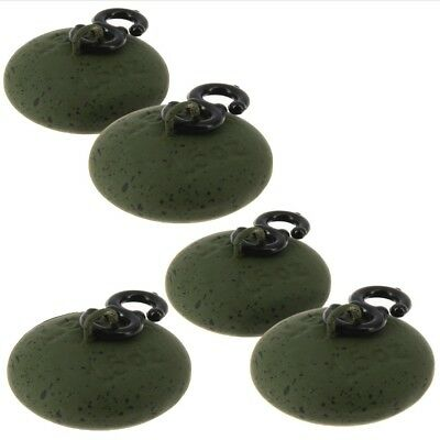 10 x Green Coated Saucer 1.5 oz Back Leads Easy Running Carp Fishing Tackle