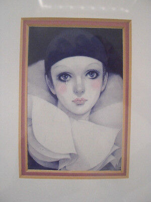 """Nielsen Silver Metal Framed Picture- """"Tears of a Clown"""""""