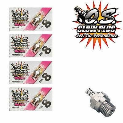 OS Engine Glow Plug No. 8 Medium Gas Power Engine Gas Power 4 pcs Free Ship RC