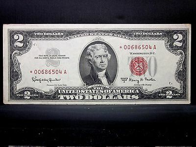 1953-A $2 United States Star Note ✪ Uncirculated ✪ Cu Unc Edge Split ◢Trusted◣