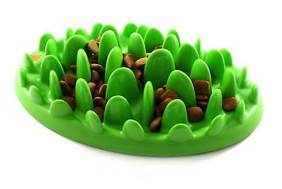 Green Feeder 2 Sizes - Slow Dog/pup's Eating Helps Stop Bloat, Gas & Boredom!