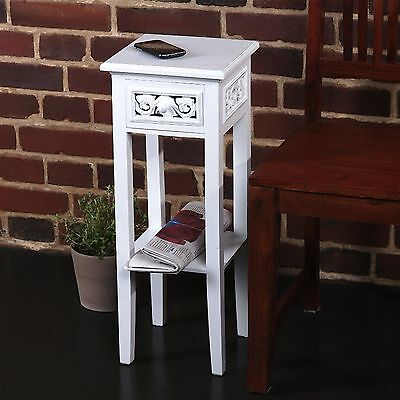 DESIGN TELEPHONE TABLE COUNTRY SIDE STYLE | white washed, wood | side table