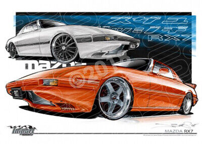 Imports Mazda RX7 1ST GEN  STRETCHED CANVAS (S035)-New_Itemq