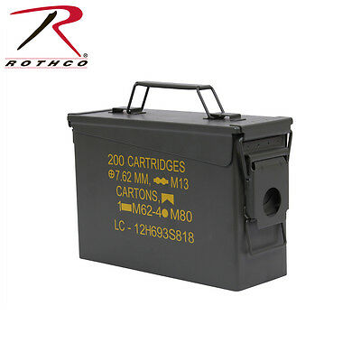 2105 Rothco Olive Drab .30 Cal Military Steel Ammo Can