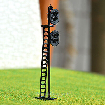 1 pcs HO Scale 1:87 LEDs Made 2 heads Railroad Signals 2 aspects over 2 aspects