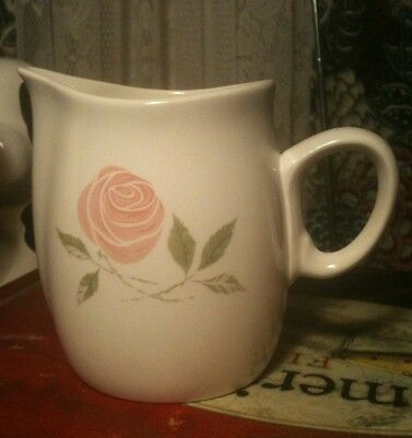 Antique (50 Year +) Franciscan Whitestone Ware Pink-A-Dilly Creamer Pitcher