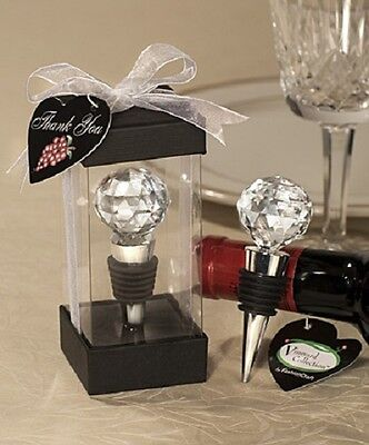 1 x Crystal Ball Design Wine Bottle Stopper - NEW - Wedding Favours and Gifts