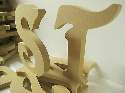 Set Of 20 Victorian Letters Wooden Freestanding 200mm High 18mm Thick