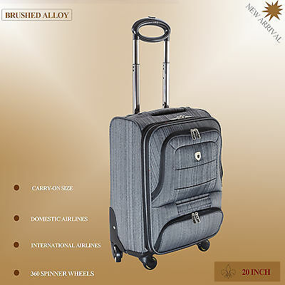 Carry On 20 inch 40L Luggage 4 Spinner Wheels Trolley Travel Bag suitcase Cabin