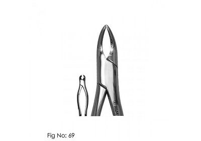 Tooth Extracting Forceps # 69 Upper or Lower Fragment or Small Root