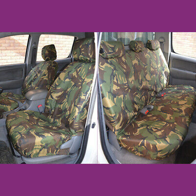 Toyota Hilux Double Cab 2005-2016  Green Camo Tailored Front & Rear Seat Covers