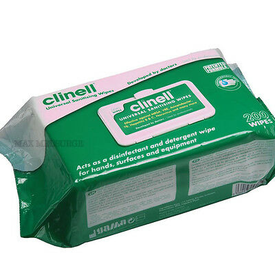 Pack 200 - Clinell Universal Hand & Surface Sanitising, Disinfectant Wipe
