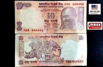 India 10 New 2011 Gandhi Tiger Rhinoceros Dsr Unc Paper Money Currency Bank Note