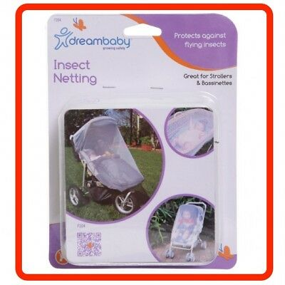 ❤ DreamBaby Stroller Pram Bassinet Cot Mosquito Insect Net Netting Dream Baby ❤