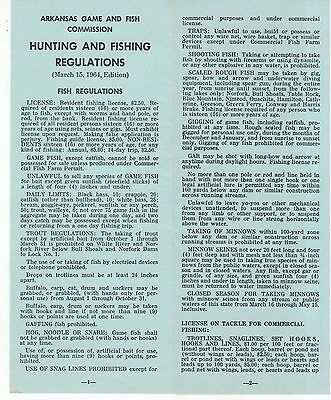 1960 now brochures paper collectibles for Arkansas fishing license